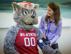 Mr Wuf from NCSU gets a check up
