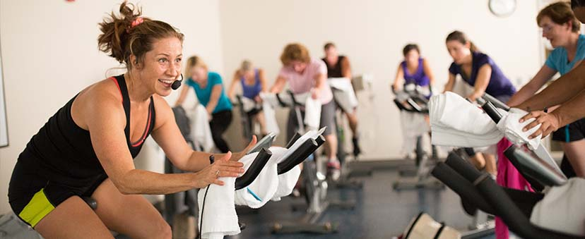 Cycling class at REX Wellness Centers