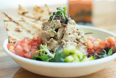 chicken salad from kardia cafe