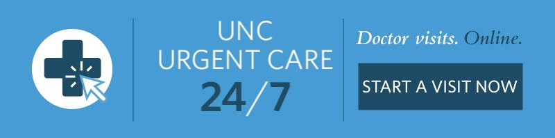 UNC Urgent Care 24/7 Image and Start A Visit Now link