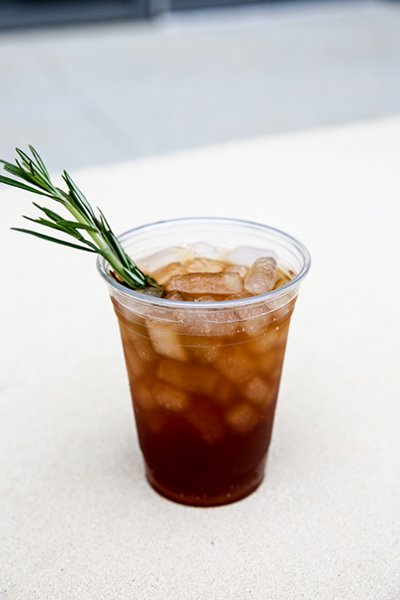 rosemary tea from kardia cafe