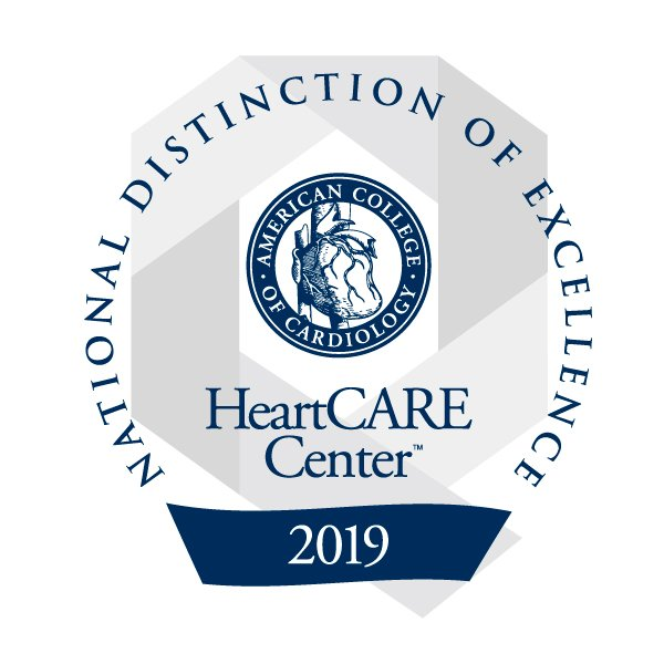 HeartCARE Center National Distinction of Excellence logo